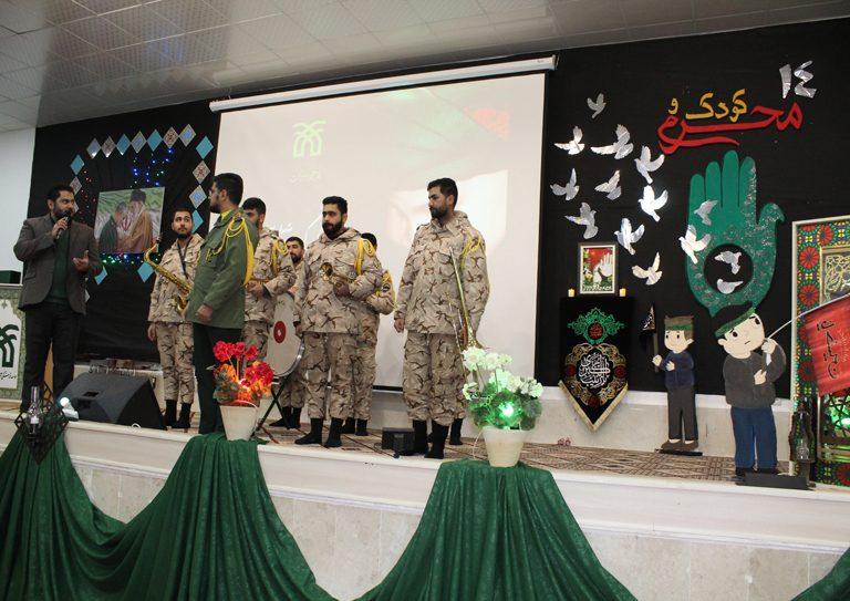 اجرای زنده سرود جمهوری اسلامی در مراسم اختتامیه چهاردهمین یادواره کودک و محرم